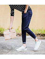 onda coreana 2017 primavera e no verão Blue Jeans minimalistas jovens pés calça masculina 9 calças slim