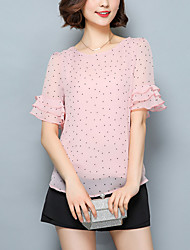 cheap -Women's Polyester Blouse - Polka Dot