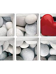 Love White Stone 3D Bathroom Non-Slip Stickers The Floor Tile Individuality Decorative Stickers