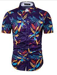 cheap -Men's Beach Cotton Shirt Print