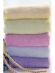 Недорогие -Свежий стиль Полотенце для рук,Однотонный Высшее качество 100% бамбуковое волокно Полотенце
