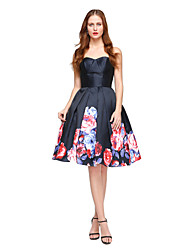 cheap -Ball Gown Sweetheart Knee Length Satin Cocktail Party Homecoming Dress with Pleats by TS Couture®