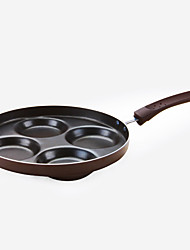 cheap -1 Pc 4 Holes Iron Non-Stick Frying Pan Egg Tool Cookware Kitchen Supply