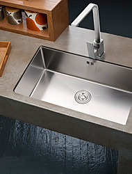 cheap -31.88-inch 16 Gauge Undermount Single Bowl Stainless Steel Kitchen Sink