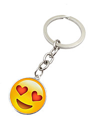 cheap -Key Chain Toys Key Chain Circular Metal 1 Pieces Unisex Christmas Birthday Valentine's Day Gift