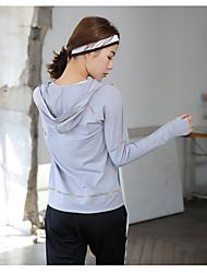 Per donna Tuta da ginnastica Traspirante per Yoga Esercizi di fitness Corsa Tessuto sintetico Elastene Taglia piccola S M L XL