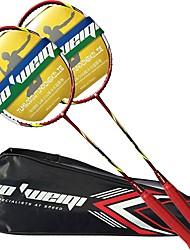 economico -Racchette da badminton Duraturo Stabilità Fibra di carbonio Un paio × 2 per