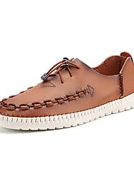 Mocassins masculins&Slip-ons printemps été confort cuir bureau&Partie de carrière&Soir, gore, brun foncé, clair, marron,
