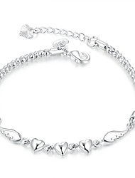 cheap -Women's Chain Bracelet / Charm Bracelet - Silver Plated Friends, Heart Luxury, Vintage, Bohemian Bracelet Silver For Christmas Gifts / Wedding / Party
