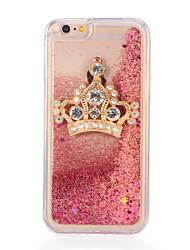 cheap -Case For Apple iPhone 7 Plus iPhone 7 Rhinestone Flowing Liquid DIY Back Cover Glitter Shine Soft TPU for iPhone 7 Plus iPhone 7 iPhone