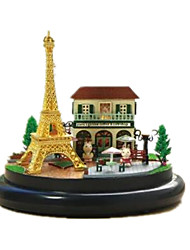 cheap -Dollhouse Toys Circular Wood Pieces Unisex Gift