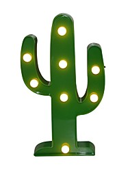 cheap -Cactus LED 3D Night Light Battery  Nightlight Marquee Desk Table Lamp Letter for Kids Gift