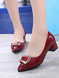 Da donna-Tacchi-Ufficio e lavoro Formale-Comoda Club Shoes-Quadrato-Finta pelle-