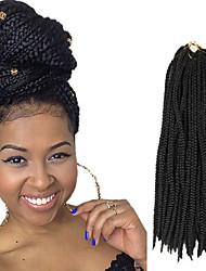 Box Braids Twist Braids Natural Black Hair Braids 24Inch Kanekalon 90g Synthetic Hair Extensions