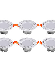 cheap -3W 6 LEDs Easy Install / Recessed LED Downlights Warm White / Cold White 85-265V Cabinet / Ceiling / Showcase / 6 pcs / CE Certified
