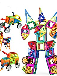 cheap -Magnetic Blocks / Building Blocks / Model Building Kit 96pcs Car / Robot Magnetic Girls' Gift