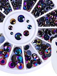 Недорогие -1 pcs Кристаллы маникюр Маникюр педикюр Повседневные блестит / Neon & Bright / Мода / Акрил / Металл