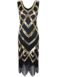 Sheath / Column V-neck Asymmetrical Polyester Cocktail Party Homecoming Dress with Sequins by Z&X