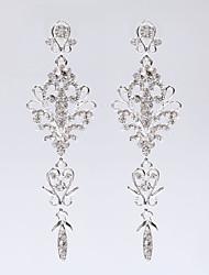 Недорогие -новый стиль цветок кисточки серьги элегантный классический женский стиль