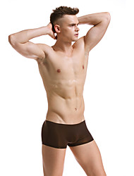 cheap -Men's Ice Silk Boxers Underwear Solid Colored