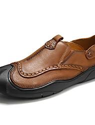Недорогие -Муж. обувь Кожа Весна Лето Удобная обувь Мокасины и Свитер для Повседневные Коричневый Хаки