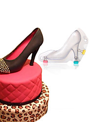 cheap -1Pcs  Baking DIY 3D Fondant High Heel Shoe Chocolate Mold Cute Stereo Lady'S Shoes Candy Mould Sugar Paste Mold For Cake Decoration