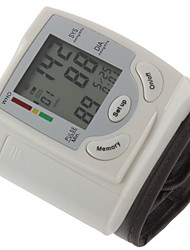 cheap -1PC Domestic Convenient Wrist Blood Pressure Monitor Manual LCD Display Time Display Rechargeable Power Plastic