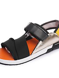 economico -Da uomo-Sandali-Casual-Comoda-Piatto-Tessuto-Nero Arancione Schermo a colori