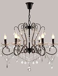 cheap -LightMyself 6 Lights Crystal Chandelier Modern/Contemporary Traditional/Classic Rustic/Lodge Vintage Retro Country Painting Feature for LED Metal