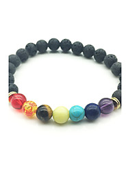 Fashion Natural Colorful Volcanic Stone Beads Bracelet