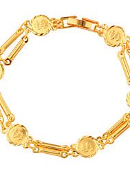 Per uomo Per donna Bracciali a catena e maglie Gioielli Di tendenza Dorato Rame Placcato in oro Lettere dell'alfabeto Gioielli Per