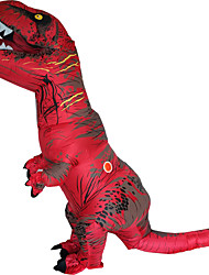 cheap -T REX Costume Inflatable Dinosaur Costume For Anime Expo Traje De Dinosaurio Inflable Blowup Disfraces Adultos Costume For Adult With Two Blowers Red