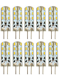 abordables -HKV 10pcs 2W 100-200lm G4 Luces LED de Doble Pin T 24 Cuentas LED SMD 3014 Blanco Cálido Blanco Fresco 12V 220-240V