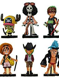 economico -Figure Anime Azione Ispirato da One Piece Roronoa Zoro PVC 8 CM Giocattoli di modello Bambola giocattolo