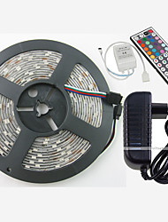 cheap -ZDM® RGB Strip Lights 150 LEDs Warm White White Green Yellow Blue Red Remote Control / RC Cuttable Dimmable Waterproof Color-Changing
