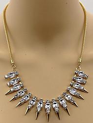 Femme Pendentif de collier Imitation de diamant Forme de Tube Style Punk Or Bijoux Pour Occasion spéciale Quotidien 1 pièce