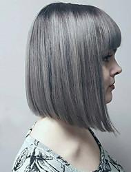 Недорогие -Парики из искусственных волос Волнистый Стиль Без шапочки-основы Парик Серый Серый Искусственные волосы Серый Парик монолитным парики
