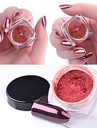 2g/box Rose Gold Magic Mirror Nail Glitter Powder Manicure Nail Art Glitter Chrome Pigment Decoration Tools