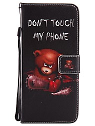 cheap -For Samsung Galaxy S8 Plus S8 Case Cover Card Holder Wallet with Stand Flip Pattern Full Body Case Bear Hard PU Leather