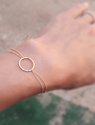 cheap -Women's Chain Bracelet - Bohemian Handmade Round Gold Silver Bracelet For Wedding Party Special Occasion Anniversary Birthday Engagement