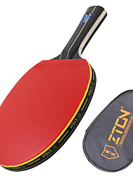 cheap -Ping Pang/Table Tennis Rackets Ping Pang Wood Long Handle Pimples 1 Racket 1 Table Tennis Bag-ZTON