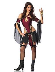 Costumi da pirata Costumi Cosplay Donna Halloween Carnevale Feste/vacanze Costumi Halloween Rosso/nero Di tendenza
