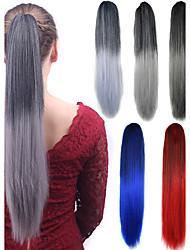 Lunghe estensioni estive dei capelli del partito cosplay sintetico delle donne ponytail dritte