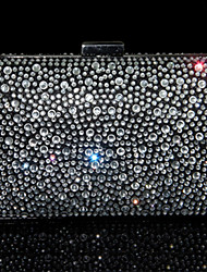 Women Bags All Seasons PU Evening Bag Crystal/ Rhinestone for Wedding Event/Party Formal Black Red