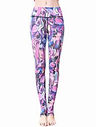 Yoga-Hose Leggins Strumpfhosen/Lange Radhose Atmungsaktiv Rasche Trocknung Normal Hochelastisch Sportbekleidung DamenYoga Pilates Übung &