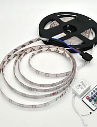 baratos -ZDM® 5m Conjuntos de Luzes 300 LEDs 1 controlador remoto de 24Keys RGB Impermeável Decorativa 12V 1conjunto