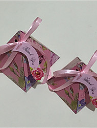 baratos -Pirâmide Papel de Cartão Suportes para Lembrancinhas Com Laço Caixas de Ofertas Caixas de Presente