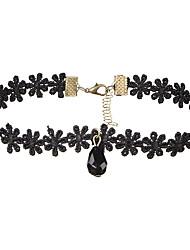 Women's Choker Necklaces Jewelry Drop Lace Acrylic Basic Dangling Style Multi-ways Wear Jewelry For Wedding Anniversary Birthday Thank