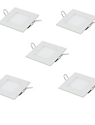 cheap -5pcs 3W 15pcs LEDs Easy Install Recessed LED Panel Lights Warm White Cold White 85-265V Home / Office