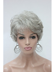 cheap -Fashion Curly Light Grey Short Synthetic Hair Full Women's  Wig For Everyday